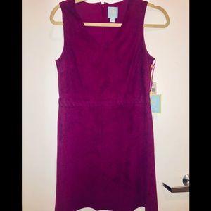 CeCe Mulberry Suede Mini Dress